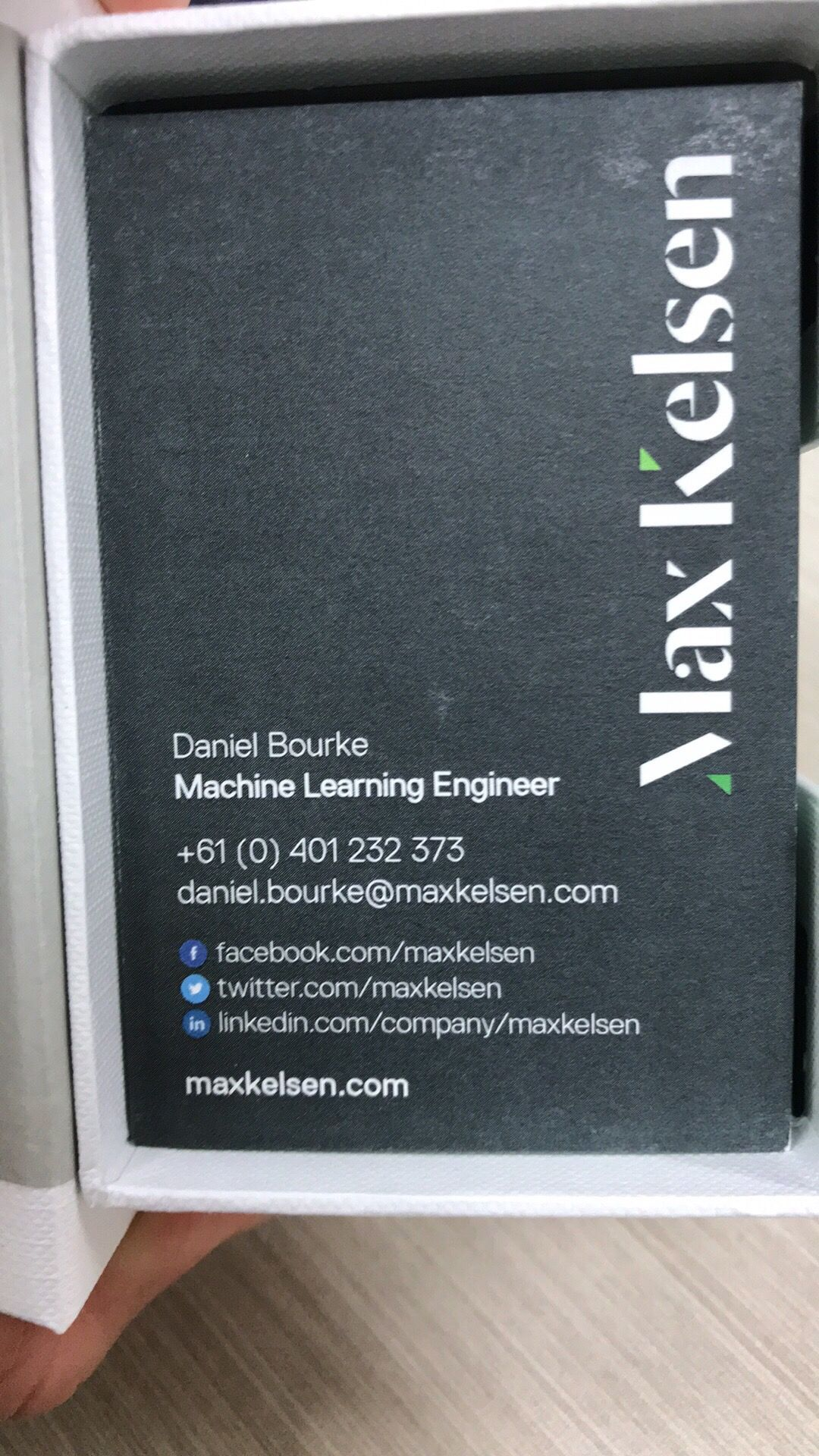 machine learning engineer business cards